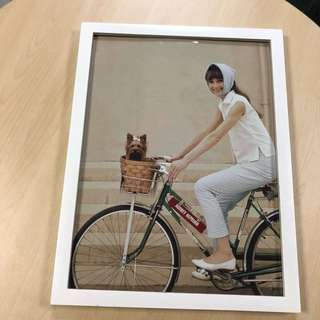 Audrey Hepburn Pretty Cycling Print Poster
