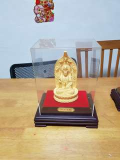 999 gold plated guan ying 23cm by 27cm