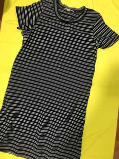 Banana Republic Stripes T-shirt Dress