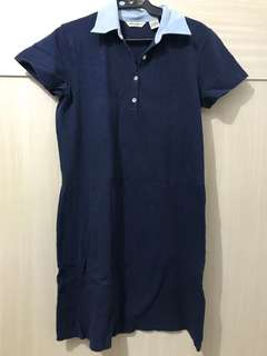 Navy Blue Polo Dress