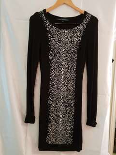 French Connection stretch knit dress size 10