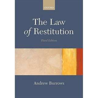 The law of restitution - andrew burrows