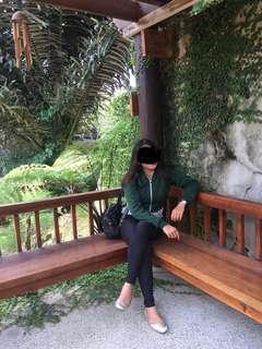 Jaket crop hijau