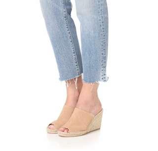 🚚 soludos草編高跟鞋