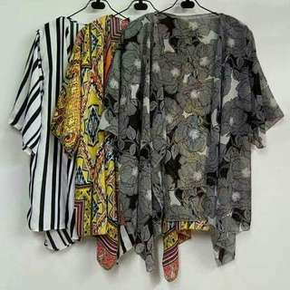Short kimonos for cover up or can also wear as blazer