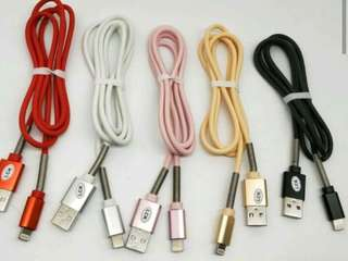Spring cable for iPhone and Android