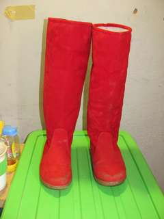 BOOTS merah import