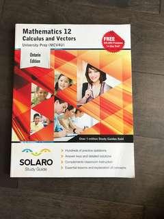 Calculus and Vectors University Prep Study Book