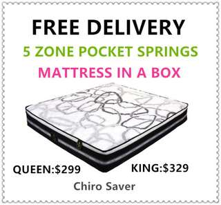 Chiro Saver Queen Size Brand New Mattress(free delivery)