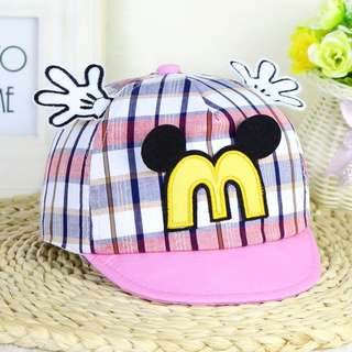 🚚 韓版春季新款米奇手掌嬰幼兒寶寶帽子