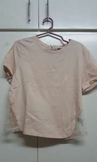F21 peach blouse