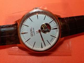Gevril - Mulberry (Swiss Made)全新男装自動機械錶(不需電池)41mm, 有紙有盒 有吊牌