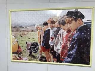 BTS puzzle 連相框