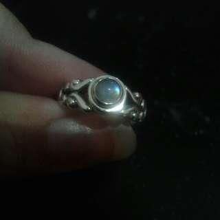 Genuine Moonstone Ring sterling silver