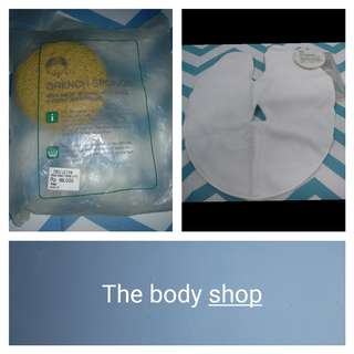 [Nego/barter] [The body shop] Sponge mandi & face mask