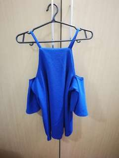 Off shoulder top (blue)