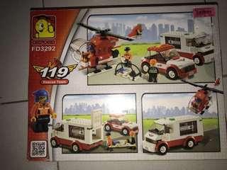 Oxford High Quality Korean Lego - Rescue Team 119 - FD3292
