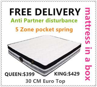 30cm Euro top Brand New queen size Mattress(free delivery)