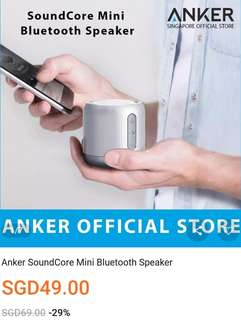 BNIB Anker Sound Core Mini Bluetooth speakers