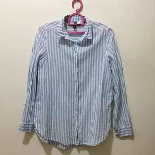 H&M Blue Stripes Longsleeve Top