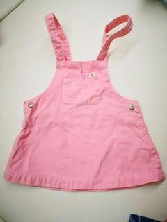 Zara babygirl 6/9m 工人 吊帶裙