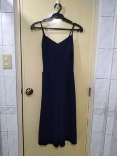 Navy blue culotte jumpsuit
