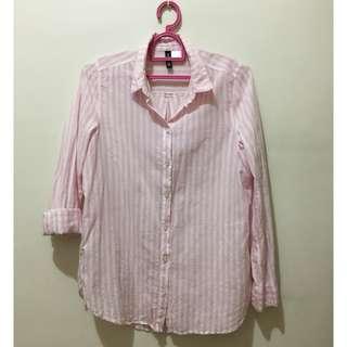 H&M Pink Stripes Longsleeves Top
