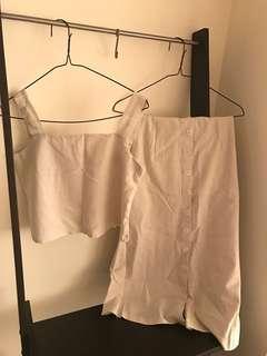 米白色 杏色 兩件式套裝