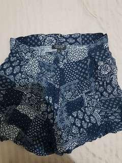 Top Shop Printed Shorts