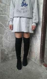 Thigh high boots hidden wedfe