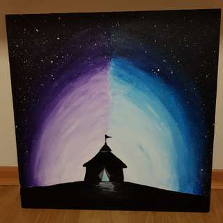 Acrylic Painting Art (The Magic Tent)