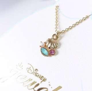 日本正版Disney頸鏈necklace - 美人魚貝殼The Little Mermaid