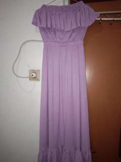 Baju Dress Ungu