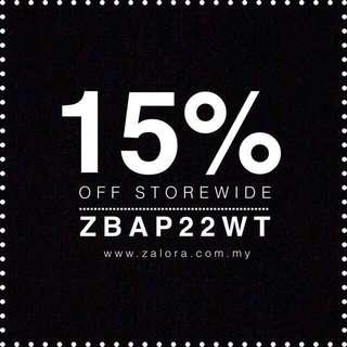 ZALORA 15% OFF