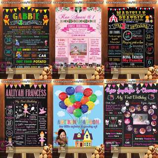 Chalkboard layout and printing availble