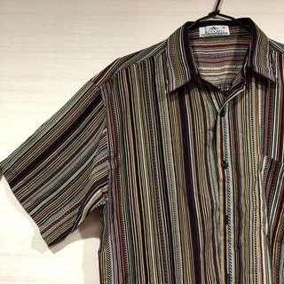古著 復古 條紋 襯衫