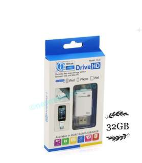 2 in1 I Flash Drive 32GB , Android and IOS iPhone