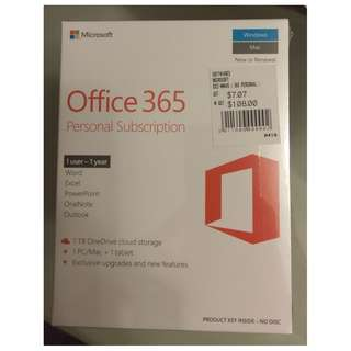 Offer! Microsoft Office 365 Personal Subscription for 1 Year (for 1 PC/Mac + tablet) valued at $108