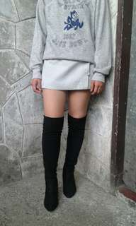 Thigh high boots with heela