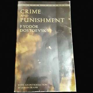 Crime and Punishment by Fyodor Dosteovsky