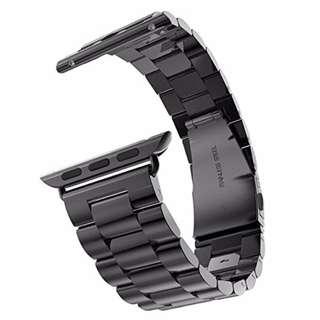 (限時大優惠!七折!)全新熱賣 蘋果手錶 黑色鋼錶帶 42mm Apple Watch Band Replacement Solid Stainless Steel 42mm (Black) (包郵)