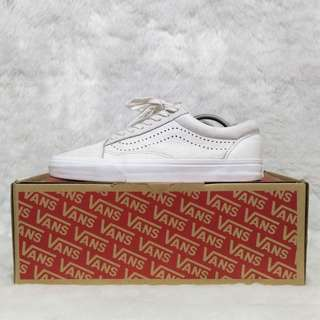 LAST PRICE From 5000 Rare Vans Old Skool Reissue DX White Leather Sneakers