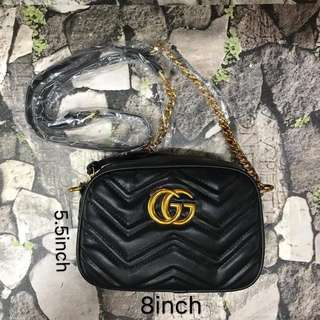 Gucci sling bag  4 color 8.5*6 inch With dustbag and card P1300  Pm me to order. #pinkmannequinshop  SC (S308)