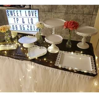 Dessert Table & Backdrop Setup / Props Rental Service