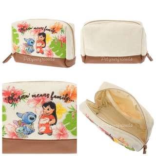 日本迪士尼預訂品 Stitch Day 化妝袋 pouch