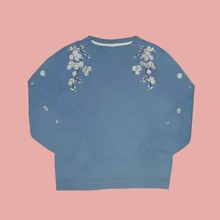 Pastel Cherry Blossom embroidered pullover (korean or japanese)