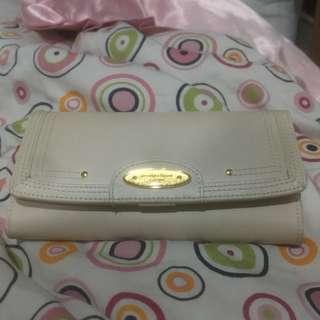 Beige wallet/ purse