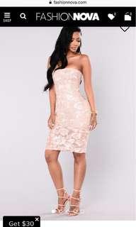 Brand new midi/mini lace dress
