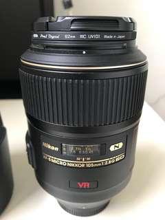 Nikon 105mm VR 2.8G Micro Lens
