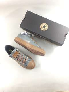 Sepatu Converse All Star OX Leather Grey Gum